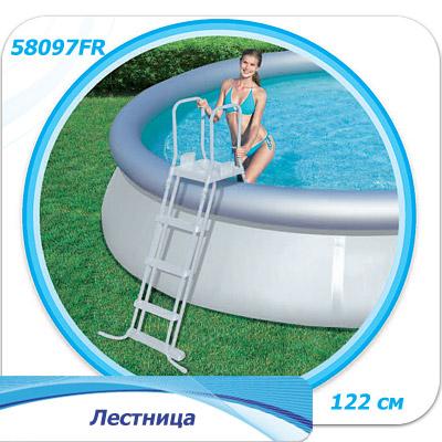 57242 Надувной бассейн  BestWay, 457х122см, фильтр-насос песч 3028 л/ч