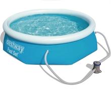 57270 Надувной бассейн  BestWay, 305х76см, фильтр-насос картр 1249 л/ч (28122)