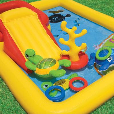 57454 Детский надувной Игровой центр Intex 254х196х79см Океан
