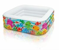 57471 Детский надувной бассейн Intex «Аквариум» квадратный