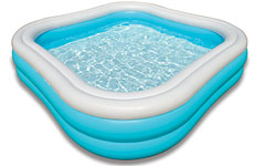 57486 Надувной детский бассейн с надувным полом Океан Intex 57486 Blue Ocean Pool (от 3 лет)