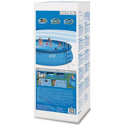 Надувной бассейн 57929 Intex 549х122см + хлоргенератор фильтр насос картриджный 7570л/ч Easy Set