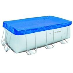 58231 Тент для бассейна прямоугольного каркасного BestWay Pool Covers 287х201х100см