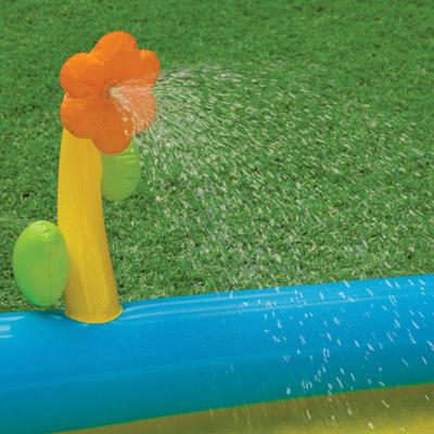 58466 Детский Игровой центр бассейн Intex 229х229х76см с горкой
