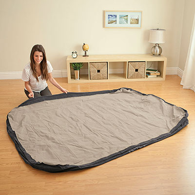 64408 Надувная кровать двуспальная с встроенным насосом Intex (152х203х46)