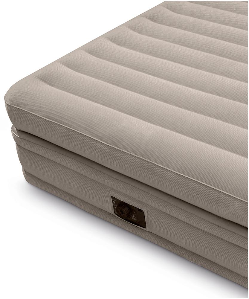 64446 Двуспальная надувная кровать Intex Prime comfort elevated airbed 152х203х51см (со встроенным насосом 220В)