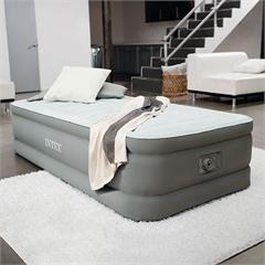 64472 Надувная кровать Intex, с встроенным электронасосом 220В (99х191х46)