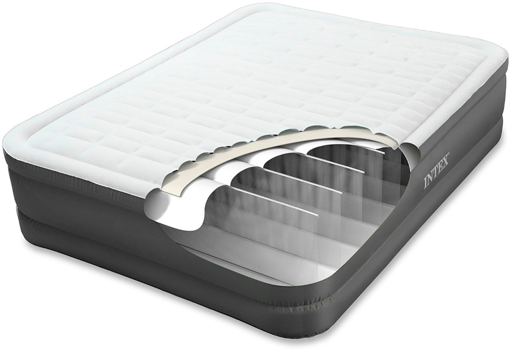 64482 Односпальная надувная кровать Intex PremAire Elevated Airbed 99х191х46см (с встроенным насосом 220В)