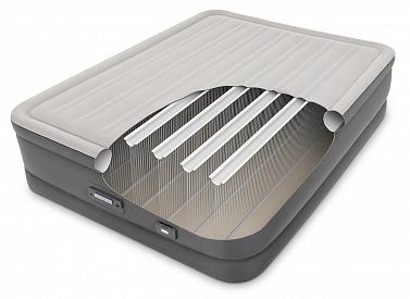 64770 Двуспальная надувная кровать PremAire Airbed с насосом 220В (152х203х46)