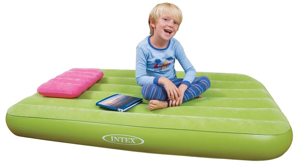 66801 Матрас детский с подушкой 88х157х18см, 3 цвета