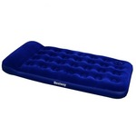 67224 Bestway Надувной матрас Easy Inflate Flocked Air Bed(Twin) 188х99х28 см, встроенный ножной насос