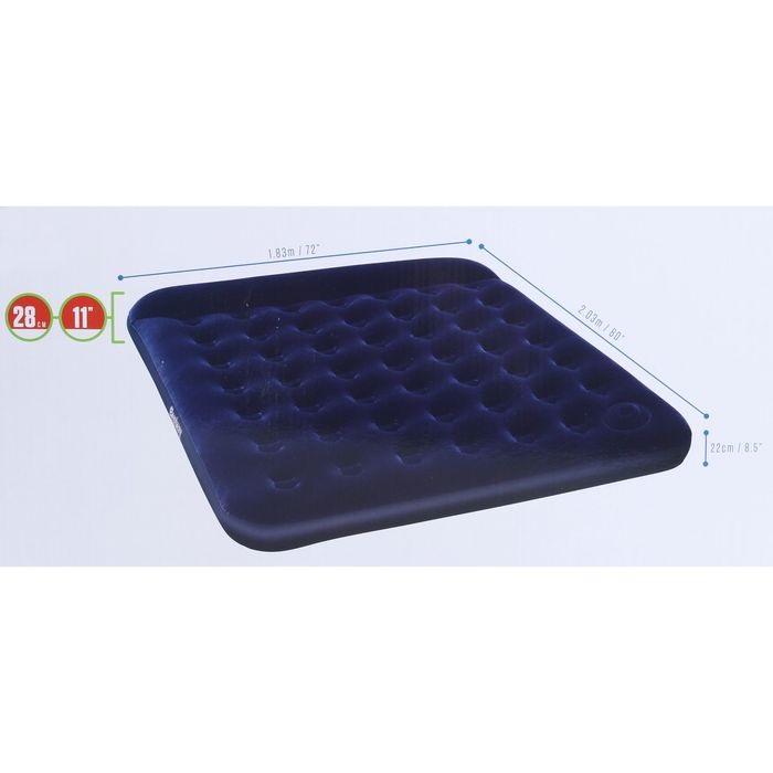 67227 Bestway Надувной матрас Easy Inflate Flocked Air Bed(King) 203x183x28 см, встроенный ножной насос