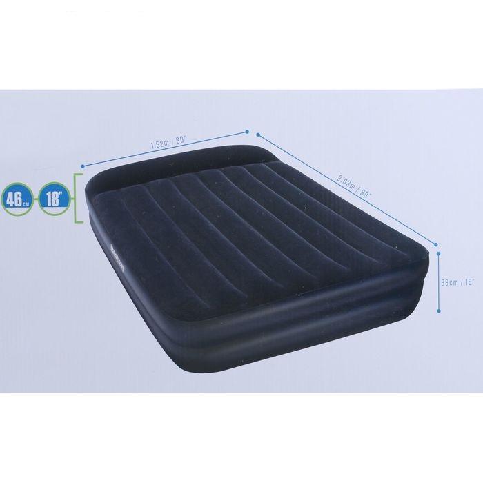 67345 Bestway Надувная кровать Premium Air Bed with Sidewinder - Ac Air Pump(Queen) 203х152х46 см, с электронасосом