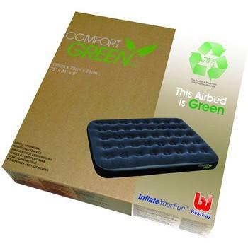 67380 Bestway Надувной матрас Comfort Green Flocked Air Bed(Double) 191х137х22 см