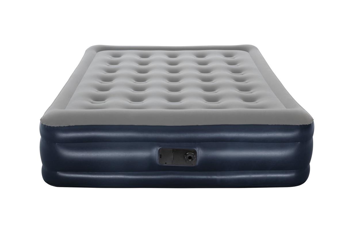 67600 Bestway Надувная кровать Cornerstone Airbed, 203х152х43см, встроенный электронасос