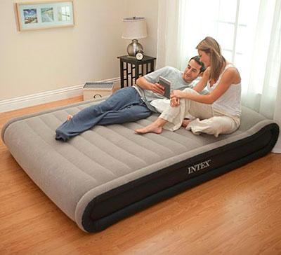 67726 Надувная кровать Deluxe Mid Rise Pillow Rest Bed 152х203х41см с насосом