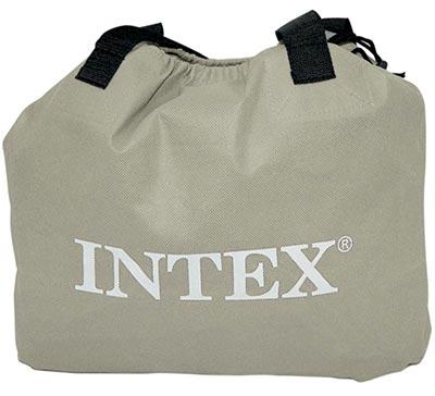 67954 Надувная кровать двуспальная с встроенным насосом Intex (152х203х51)
