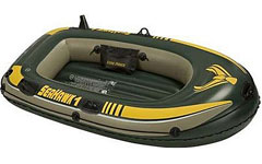 68345 Надувная лодка ПВХ Intex Seahawk 100 Set  193 х 108 x 38 см