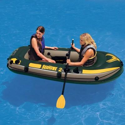 68347 Надувная лодка ПВХ Intex Seahawk 200 Set 236 х 114 x 41 см