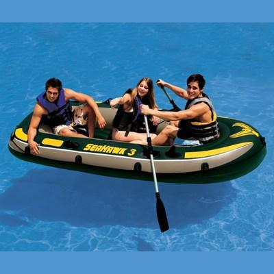 68349 Лодка надувная Intex ПВХ Seahawk 300 Set 295 х 137 x 43 см