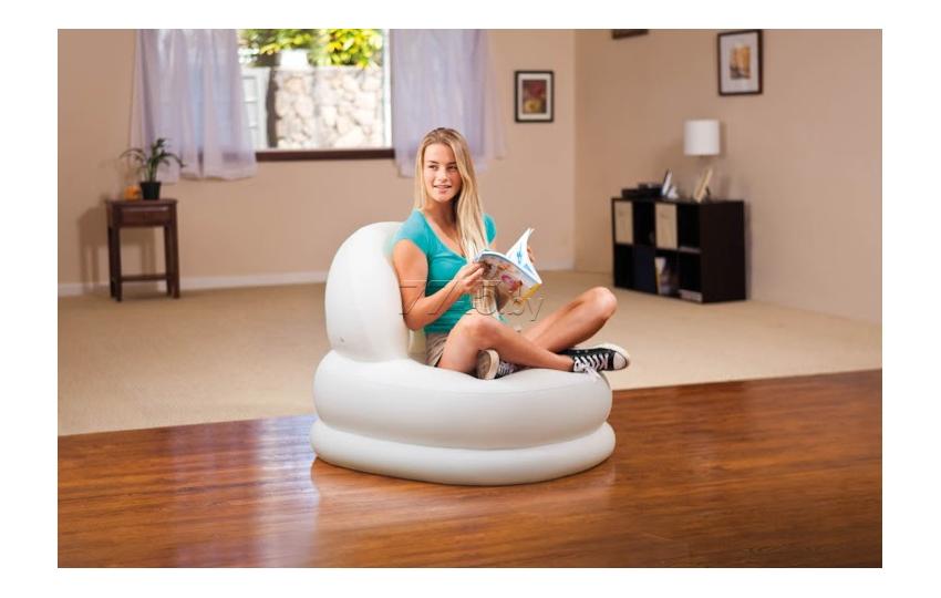 68591 Надувное кресло Intex Mode Chair, белое