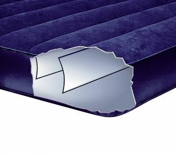 68765 Надувной матрас Intex Двуспальный с насосом и двумя подушками (152х203х22)