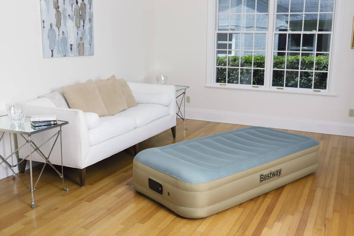 69005 Надувная кровать Essence Fortech Bestway 191х97х36см, встроенный электронасос