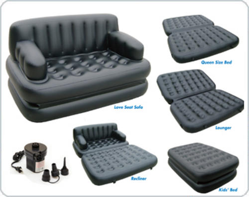 75056 Bestway Надувной диван-трансформер Double 5-In-1 188х152х64 см насос в комплекте