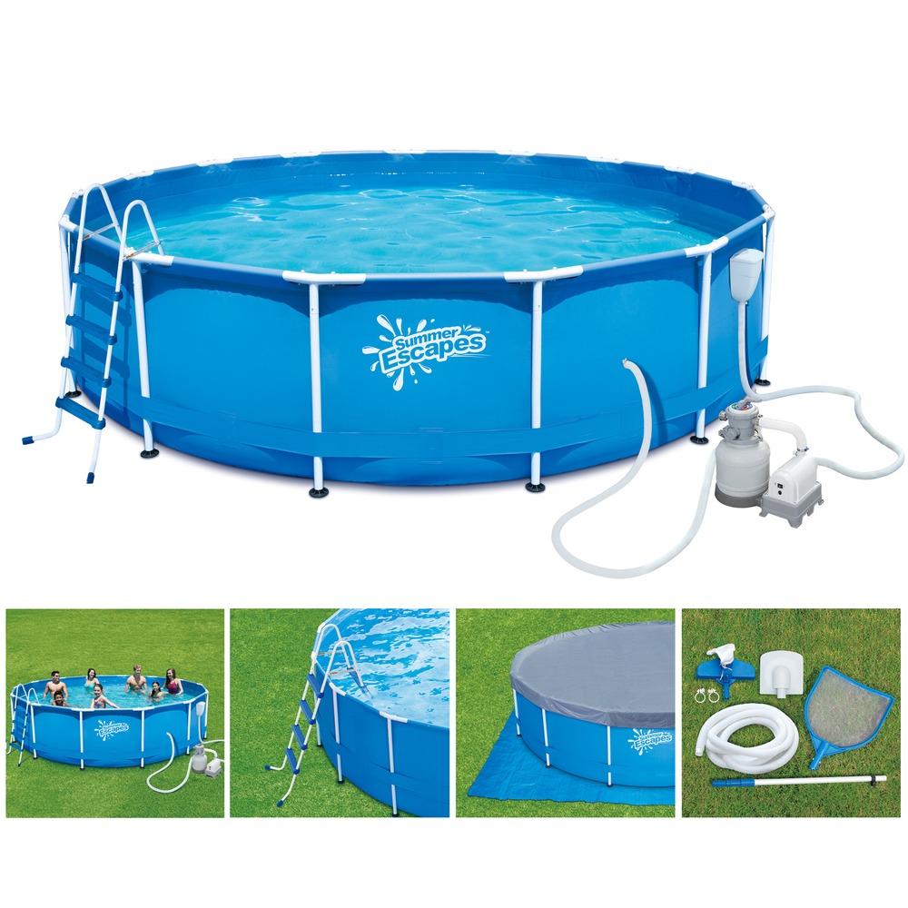 P20-1548-S Каркасный бассейн круглый 457х122см SummerEscapes