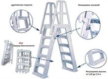 Лестница двухсторонняя универсальная (пластик) SLA001