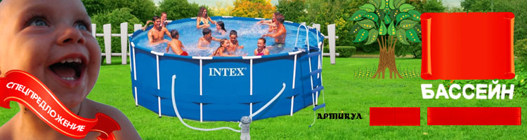 54424 ������� ��������� ���. 54424 Intex Family Size Metal Frame Pool Set 366�99��