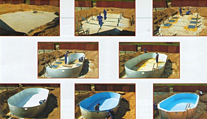 2211-2 Сборка металлического бассейна от 5м