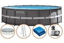 26330 Каркасный бассейн Ultra Frame 549х132см, Intex+песч. фильтр 7900 л/ч