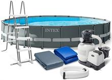 26334 Каркасный бассейн Ultra Frame 610х122м Intex+песч. фильтр 7900 л/ч