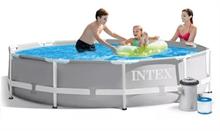 26702 Бассейн каркасный круглый INTEX Prism Frame Pool 305х76+фильтр-насос картр. 1250 л/ч