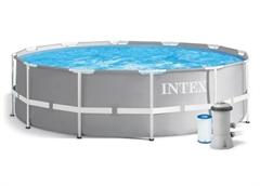 26712 Бассейн каркасный круглый INTEX Prism Frame Pool 366х76+фильтр-насос картр. 2006 л/ч