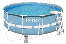 26716 Каркасный бассейн круглый INTEX Prism Frame Pool 366х99+фильтр-насос картр. 2006 л/ч