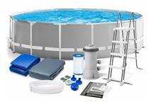 26726 Каркасный бассейн круглый INTEX 457х122+фильтр-насос картр. 3785 л/ч