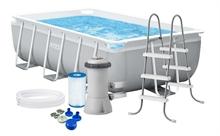 26784 Каркасный бассейн прямоугольный INTEX Rectangular Ultra Frame 300х175х80+фильтр-насос картр. 2006 л/ч
