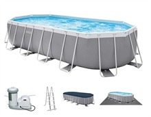 26796 Каркасный бассейн INTEX  Oval (овал) 503х274х122+фильтр-насос картр. 5678 л/ч