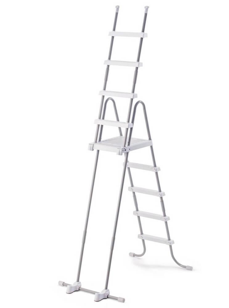 28077 Лестница для бассейна Intex 122-132см, 4 ступени, с площадкой