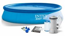 28132 Надувной бассейн  Intex, 366х76см, фильтр-насос картр 2006 л/ч (28146)