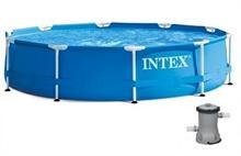 28202 Каркасный бассейн круглый  Intex, 305х76см, фильтр-насос картр 1250 л/ч