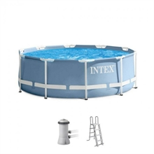 28726/26718 Каркасный бассейн круглый Intex, 366х122см, фильтр-насос картр 3785л/ч