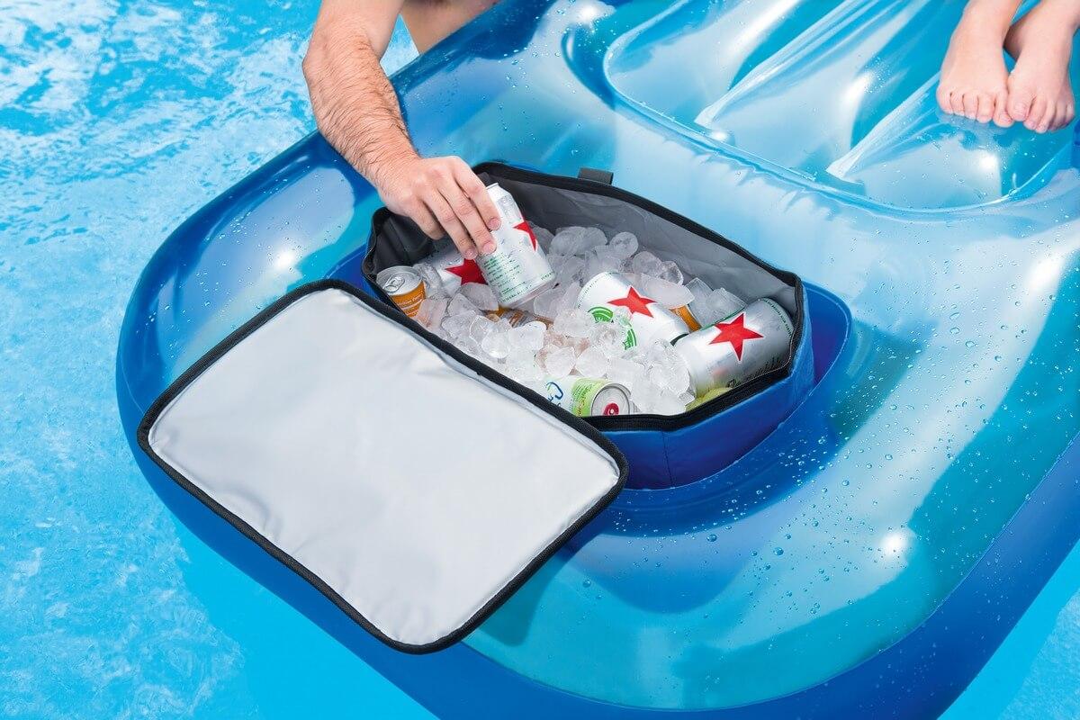 43130 Bestway Шезлонг надувной для плавания с термосумкой 231х107 см