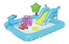 53052 Игровой бассейн Bestway Аквариум 239х206х86 см, 308 л, с брызгалкой и принадлежностями для игр.