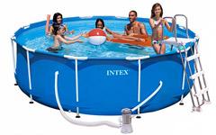 54424 Бассейн каркасный арт. 54424 Intex Family Size Metal Frame Pool Set 366х99см