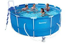 56088 Каркасный бассейн круглый  BestWay, 366х122см, фильтр-насос картр 2006 л/ч