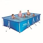 56405 Каркасный бассейн прямоугольный BestWay, 400х211х81см,