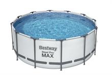 56420 Каркасный бассейн круглый  BestWay, 366х122см, фильтр-насос картр 2006 л/ч (56088)